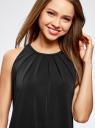 Платье прямое с завязками на спине oodji для женщины (черный), 24005125/42788/2900N