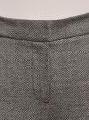 Брюки трикотажные облегающего силуэта oodji для женщины (коричневый), 18601009/48596/3930J - вид 4