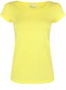Футболка базовая из хлопка oodji для женщины (желтый), 14701008B/46154/6700N
