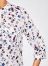 Блузка вискозная с регулировкой длины рукава oodji #SECTION_NAME# (слоновая кость), 11403225-2B/26346/3075F - вид 5