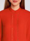 Блузка с металлическими стразами oodji #SECTION_NAME# (красный), 21401247/32823/4500N - вид 4