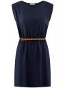 Платье вискозное без рукавов oodji #SECTION_NAME# (синий), 11910073B/26346/7900N