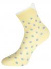 Комплект из трех пар хлопковых носков oodji для женщины (разноцветный), 57102802-3T3/47613/32 - вид 3