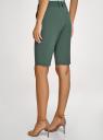 Бермуды классические со стрелками oodji для женщины (зеленый), 11803002/18600/6900N