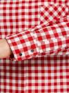 Рубашка свободного силуэта с регулировкой длины рукава oodji #SECTION_NAME# (красный), 11411099-1/43566/4512C - вид 5