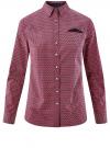 Рубашка принтованная хлопковая oodji #SECTION_NAME# (красный), 11406019-1/38544/7949G