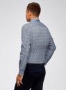 Рубашка базовая приталенная oodji #SECTION_NAME# (синий), 3L110125M/19370N/1079F - вид 3