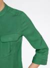 Блузка вискозная с регулировкой длины рукава oodji #SECTION_NAME# (зеленый), 11403225-3B/26346/6E00N - вид 5