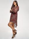 Платье шифоновое с асимметричным низом oodji для женщины (красный), 11913032/38375/4912E - вид 6