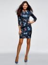 Платье облегающего силуэта на молнии oodji #SECTION_NAME# (синий), 14001105-8B/48480/7970F - вид 2