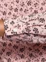 Блузка свободного силуэта из струящейся ткани oodji #SECTION_NAME# (розовый), 11400454/42540/4029F - вид 5