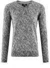Пуловер вязаный с принтом oodji #SECTION_NAME# (серый), 4L212151M/44326N/2329F