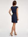Платье вискозное без рукавов oodji #SECTION_NAME# (синий), 11910073B/26346/7900N - вид 3