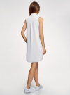 Платье хлопковое без рукавов oodji #SECTION_NAME# (белый), 11911027-2/13175N/1040P - вид 3