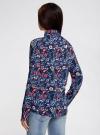 Блузка принтованная из вискозы oodji #SECTION_NAME# (синий), 11411098-3M/24681/7945F - вид 3