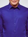 Рубашка базовая приталенная oodji #SECTION_NAME# (синий), 3B140000M/34146N/7500N - вид 4
