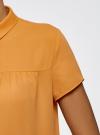 Блузка с коротким рукавом oodji #SECTION_NAME# (желтый), 11400427/36215/5200N - вид 5