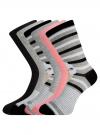 Комплект высоких носков (6 пар) oodji #SECTION_NAME# (разноцветный), 57102902T6/47469/20 - вид 2