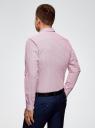 Рубашка принтованная из хлопка oodji #SECTION_NAME# (розовый), 3B110027M/19370N/1045G - вид 3