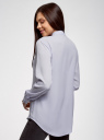 Блузка прямого силуэта с нагрудным карманом oodji #SECTION_NAME# (фиолетовый), 11411134-1B/48853/8001N - вид 3