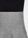 Юбка клеш трикотажная oodji для женщины (серый), 63612030/46096/2500M