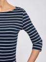 Платье трикотажное базовое oodji #SECTION_NAME# (синий), 14001071-2B/46148/7910S - вид 5
