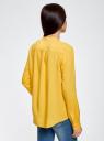 Блузка вискозная А-образного силуэта oodji #SECTION_NAME# (желтый), 21411113B/26346/5200N - вид 3