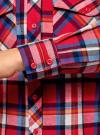 Рубашка с нагрудными карманами oodji #SECTION_NAME# (красный), 13L11006-1B/42850/4575C - вид 5