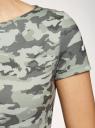 Платье приталенное с металлическим декором на плечах oodji #SECTION_NAME# (зеленый), 14001177/18610/6062O - вид 5