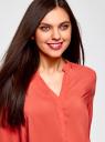 Блузка вискозная прямого силуэта oodji #SECTION_NAME# (красный), 21400394-1B/24681/4300N - вид 4