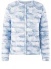 Куртка стеганая с круглым вырезом oodji #SECTION_NAME# (синий), 10204040-1B/42257/7080O