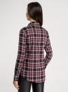 Рубашка в клетку с нагрудными карманами и декором из страз oodji #SECTION_NAME# (красный), 11411052-3/45772/294CC - вид 3