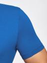 Футболка базовая приталенная oodji #SECTION_NAME# (синий), 5B611004M/46737N/7500N - вид 5