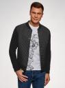 Куртка трикотажная со стежкой oodji для мужчины (черный), 5B911020M/44112N/2900N