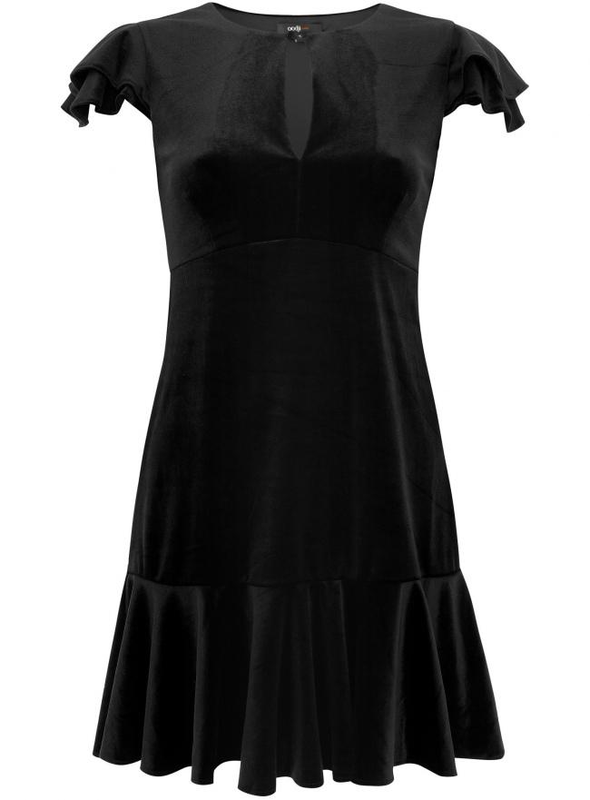 Трикотажное платье oodji для женщины (черный), 14005001/45016/2900N