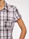 Рубашка клетчатая с коротким рукавом oodji #SECTION_NAME# (розовый), 11402084-4/35293/1041C - вид 5