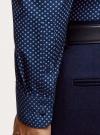 Рубашка хлопковая в мелкую графику oodji #SECTION_NAME# (синий), 3L110379M/49716N/7975G - вид 5