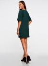 Платье в рубчик свободного кроя oodji для женщины (зеленый), 14008017/45987/6900N - вид 3