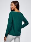 Блузка вискозная базовая oodji #SECTION_NAME# (зеленый), 11411135-3B/26346/6E00N - вид 3