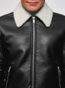 Куртка из искусственной кожи на молнии oodji #SECTION_NAME# (черный), 1L511061M/48591N/2900N - вид 4