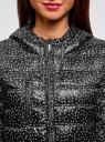 Куртка удлиненная с асимметричным низом oodji #SECTION_NAME# (черный), 10203056-2B/42257/2910G - вид 4