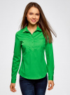 Рубашка базовая с нагрудными карманами oodji #SECTION_NAME# (зеленый), 11403222B/42468/6A00N - вид 2