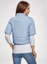 Куртка стеганая с короткими рукавами oodji #SECTION_NAME# (синий), 10207003/45420/7001N - вид 3