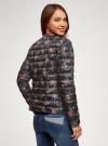 Куртка стеганая с круглым вырезом oodji для женщины (черный), 10204040-1B/42257/2919F - вид 3
