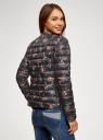 Куртка стеганая с круглым вырезом oodji #SECTION_NAME# (черный), 10204040-1B/42257/2919F - вид 3