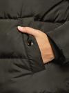 Пуховик стеганый с капюшоном oodji #SECTION_NAME# (зеленый), 10207012/45928/6801N - вид 5