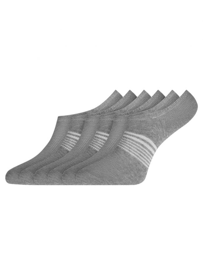 Комплект из шести пар носков oodji #SECTION_NAME# (серый), 57102602-1T6/48022/10