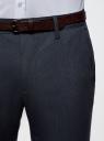 Брюки-чиносы из фактурной ткани oodji для мужчины (синий), 2L150132M/47757N/7912O