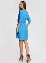 Платье вискозное с ремнем oodji #SECTION_NAME# (синий), 11900180B/42540/7510Q - вид 3