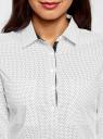 Рубашка базовая с нагрудными карманами oodji #SECTION_NAME# (белый), 11403222B/42468/1229D - вид 4